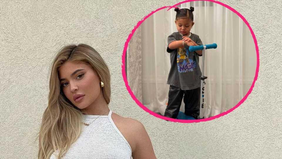 Auf dem Roller: Kylie Jenner teilt neue Bilder von Stormi