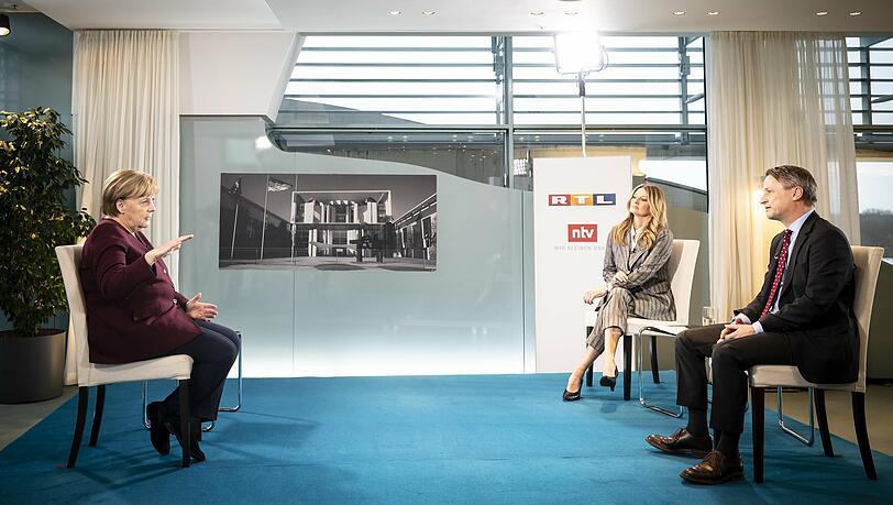Frauke Ludowig irritiert im Interview mit Bundeskanzlerin Angela Merkel