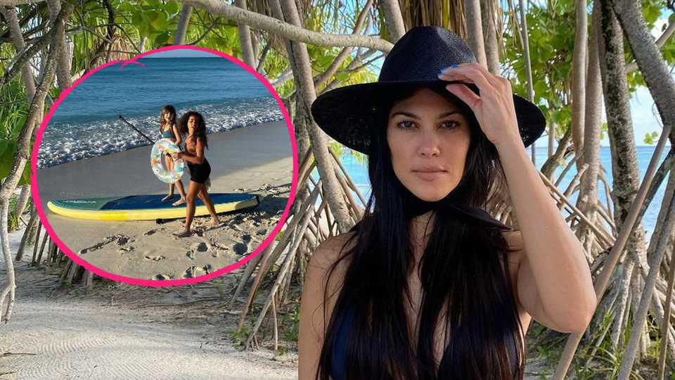 Kourtney Kardashian teilt Strandfoto von North und deren BFF