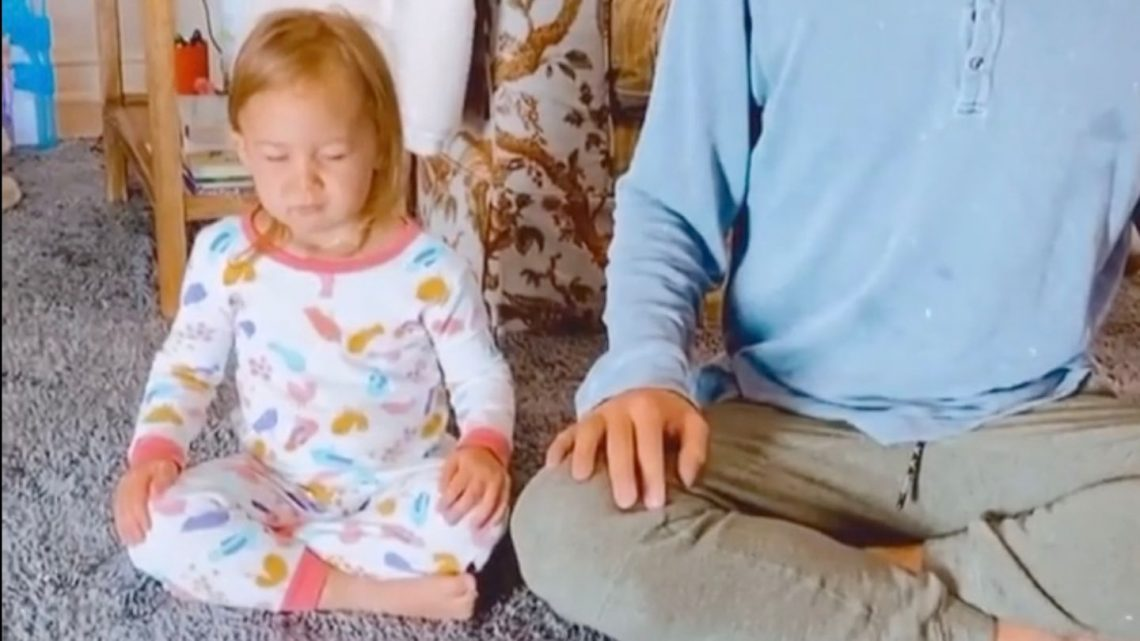 Tochter Rani ist ein Meditationsprofi