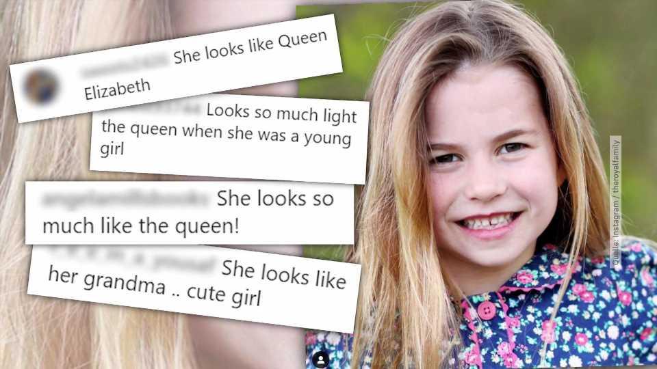 Sieht Prinzessin Charlotte aus wie Queen Elizabeth II. in jungen Jahren?