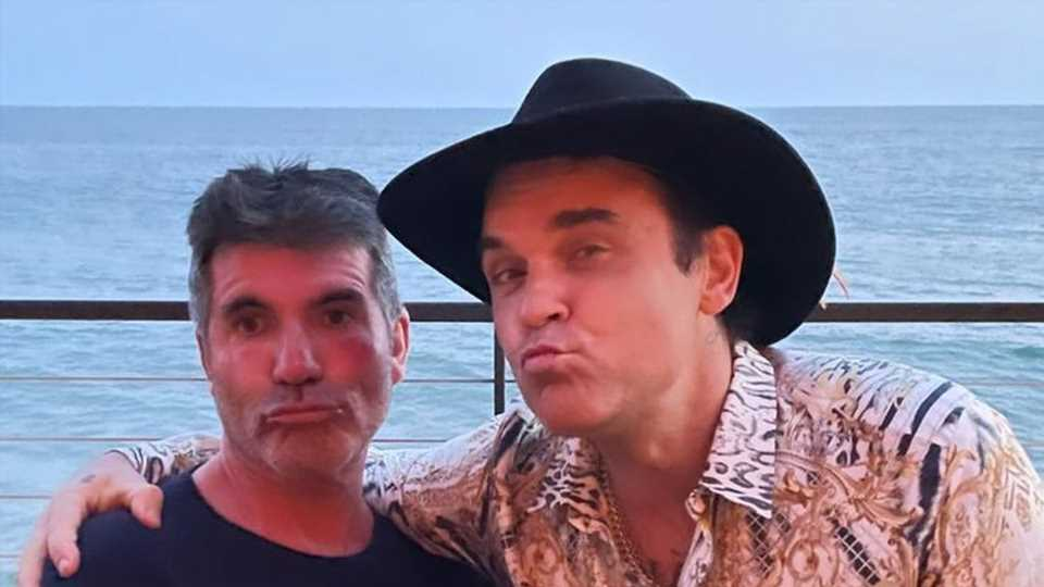 Simon Cowell genießt ein Doppel-Date mit Robbie Williams