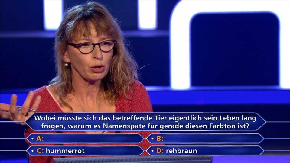 Wer wird Millionär?: Barkeeperin Martina Albers scheitert fast an 4.000-Euro-Hummerfrage