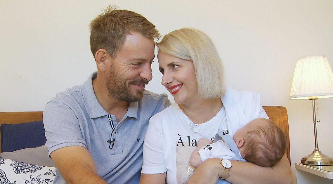 Aufatmen nach Notkaiserschnitt: Das Baby von Gerald und Anna ist da