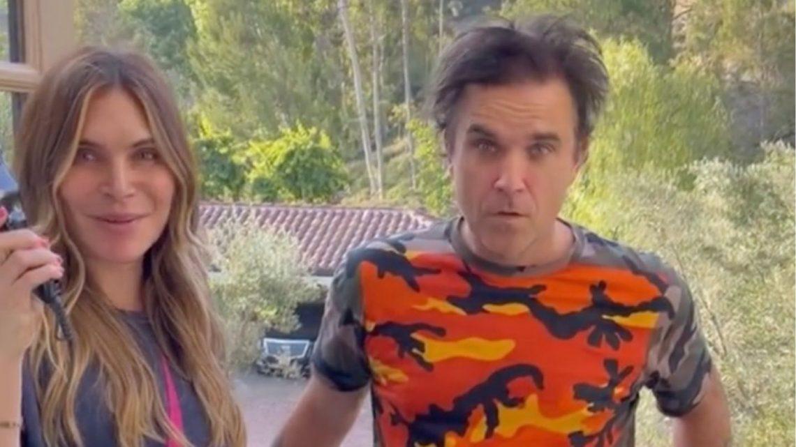 Robbie Williams: Ayda Field Williams rasiert ihm die Haare ab