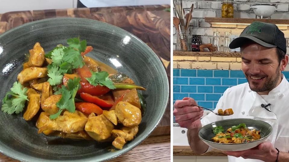 Steffen Hensslers schnelles Hähnchen-Curry-Rezept: Mit diesem Trick wird das Fleisch extrazart!