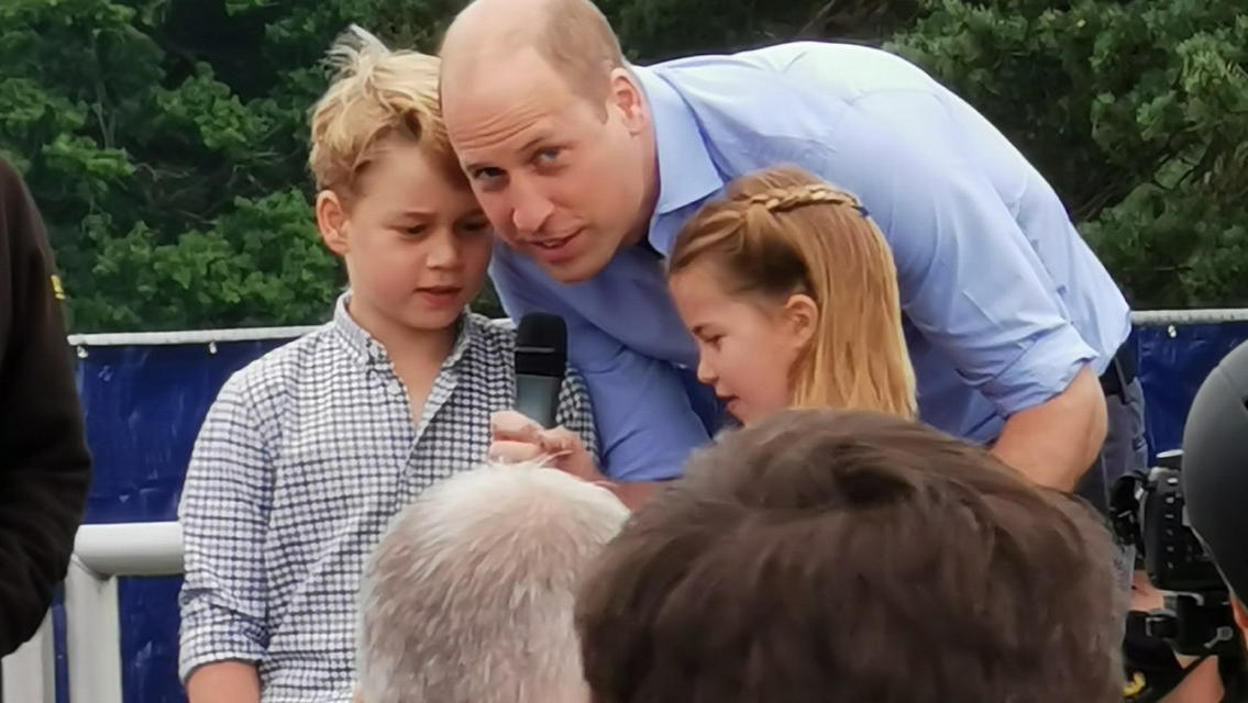 Überraschungsauftritt von Prinz George und Prinzessin Charlotte