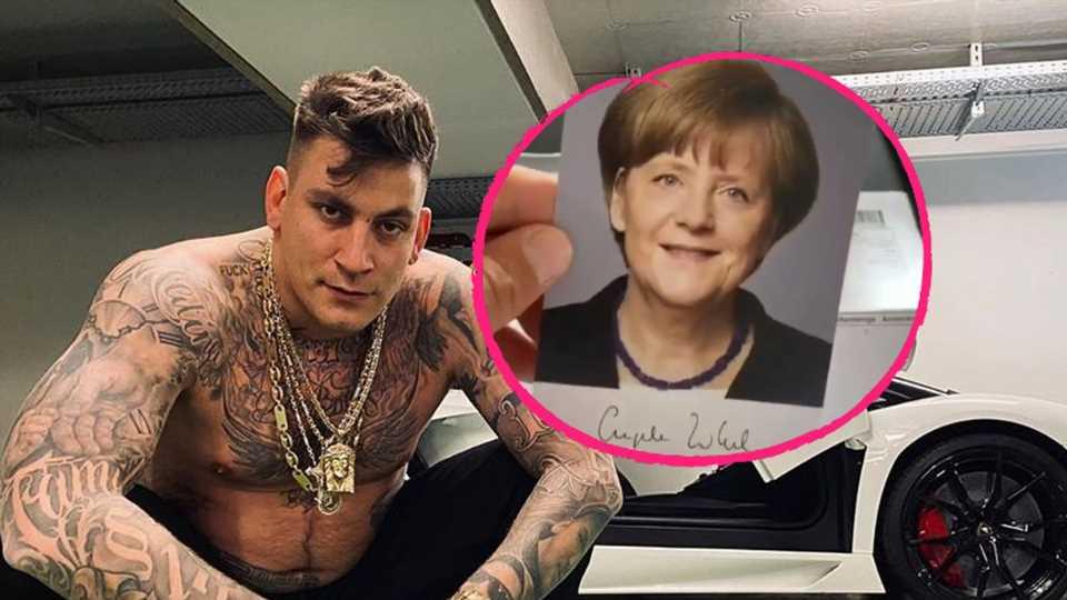 """""""Unaufgefordert"""": Gzuz bekommt Post von Kanzlerin Merkel"""