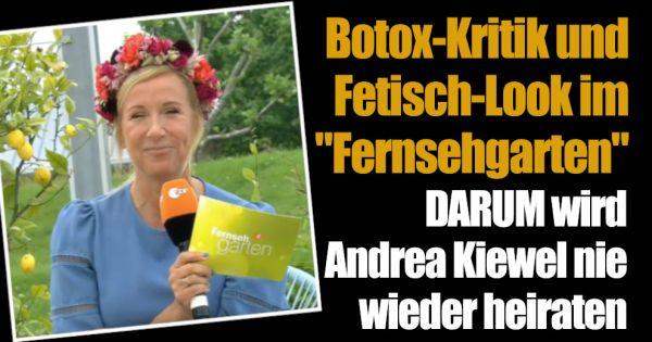"""""""ZDF-Fernsehgarten"""": Botox-Kritik, Hochzeits-Schock und Fetisch-Look bei Andrea Kiewel"""