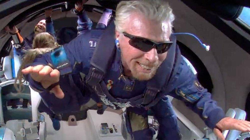 """Haben """"Die Simpsons"""" auch Richard Bransons Weltallflug vorhergesehen?"""