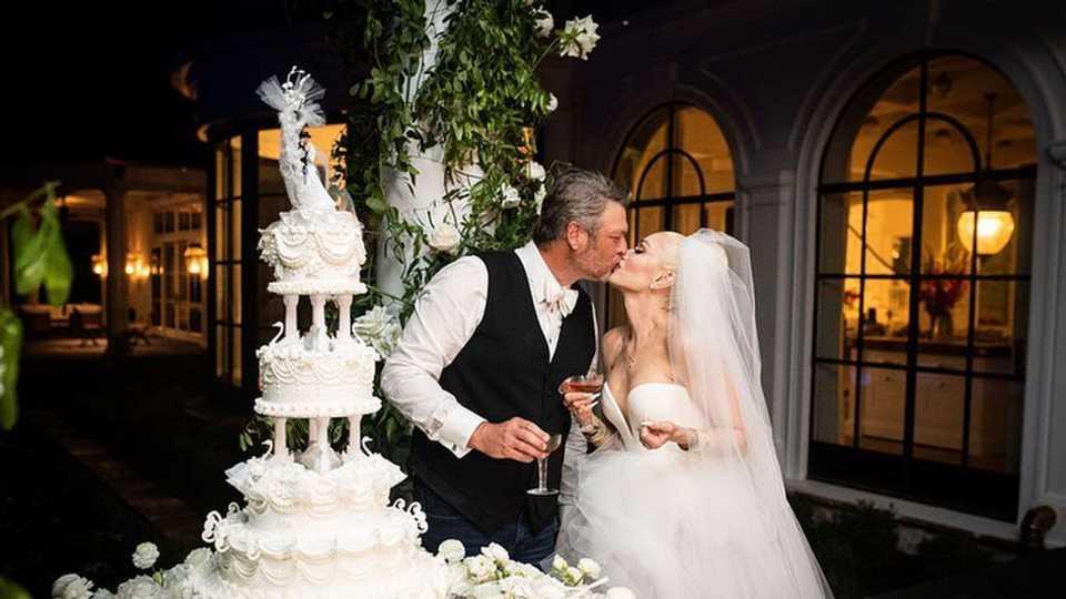 Riesige Party: So toll sieht Gwen Stefani im Brautkleid aus